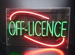 Off License Neon Sign